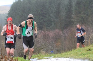Tough uphill section of Race over the Glens