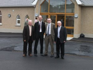 The consistory and our missionary ( L to R) Ivan Reid, Rev Martyn McGeown (missionary in Limerick), Rev Angus Stewart, Brian Crossett