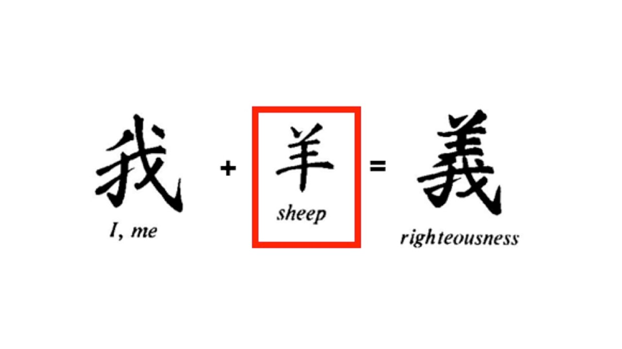 Chinese character for righteousness julesjewels6952 right from the inception of china the traditional chinese script has carried amazing detail from genesis the character shown is that for righteousness biocorpaavc